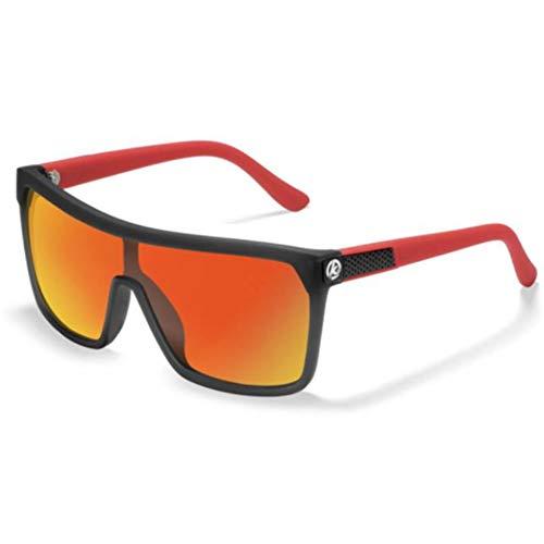 Li Kun Peng Einteilige Form Männer Sonnenbrille Polarisierte Elastische Lackoberfläche Sonnenbrille Frauen Geeignet Langlebige Schutzbrille Cat,C6BlackRed~Red