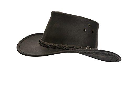 Horka Erwachsene Wallaroo Hüte Outdoor Country Reitstiefel Western mit Kopfbedeckungen aus Leder, braun