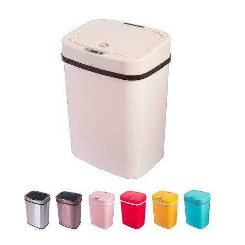 Home&Decorations Sensorshop24 - Pattumiera Automatica con sensore, 12 l, Colore: Crema