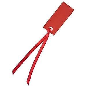 Chal - Marque place porte nom étiquette ruban rouge x12