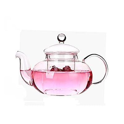 DecentGadget® Glass Teapot with Infuser//Théière en Verre Borosilicate résistant à la Chaleur élevée avec infuseur pour café et thé, 800ml