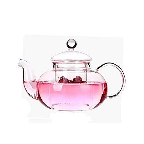 DecentGadget® High Heat Resistant Borosilicate Glass Teapot with Infuser Tea Strainer for Loose Leaf Tea Fruit Tea Flower Tea, 800ml