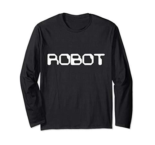 Roboter Halloween Kostüm - Roboter Android Lazy Halloween Kostüm Lustig Langarmshirt