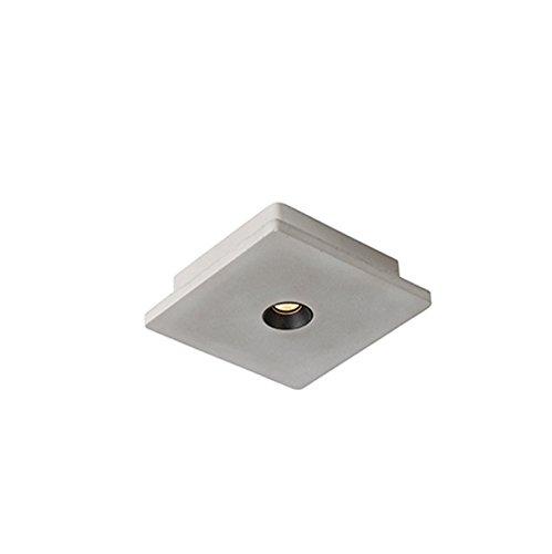 QAZQA Moderno Foco industrial cuadrado hormigón y negro LED - TALAS Piedra/cemento...