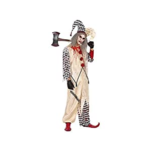 Atosa-53959 Atosa-53959-Disfraz Arlequin Sangriento para Hombre Adulto-Talla, Color beige M-l (53959