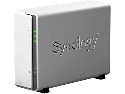 Synology DiskStation DS119j Ethernet/LAN Tour Gris, Blanc NAS - Serveurs de Stockage (Disque Dur, 108 to, Série ATA III, 2.5,3.5', HFS+,NTFS,exFAT,ext3,ext4, 0,8 GHz)
