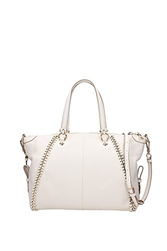 34339LICHK Coach Sacs de shopping Femme Cuir Blanc Blanc