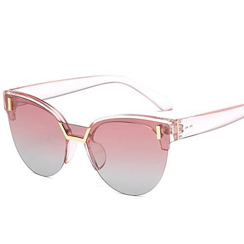 Sonnenbrille zweifarbige reflektierende Linse Classic Frame Unisex-Schutzlinse. Brille (Farbe : Rosa)