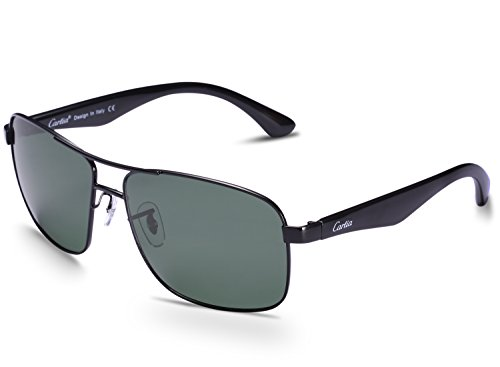 Carfia Unisex Aviator Sonnenbrille Pilotenbrille Polarisiert Sonnenbrille für Damen und Herren, 100% UV400 Schutz
