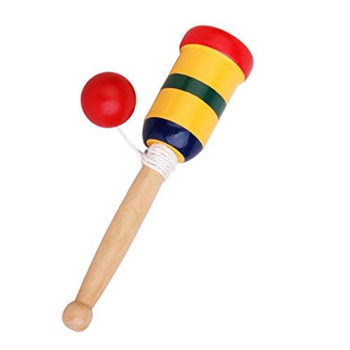 Japonés de madera juguete Kendama Copa y bola