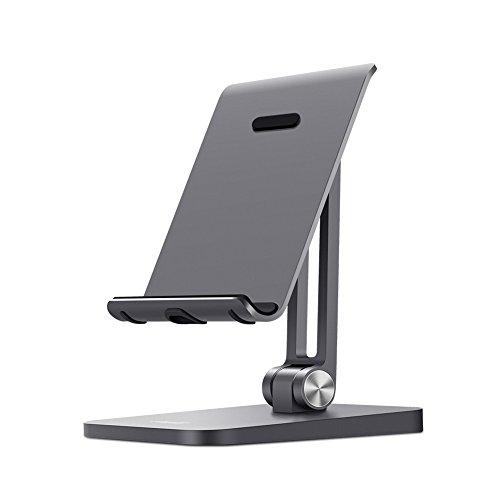 UGREEN Support Téléphone en Alliage d'Aluminium Accessoire Support Bureau Rotation 180 Degrés Pour Smartphone de 4 à 6.5 pouces, iPhone X/ 8/ 8 Plus, Samsung Galaxy S8/ S8 Plus, Gris