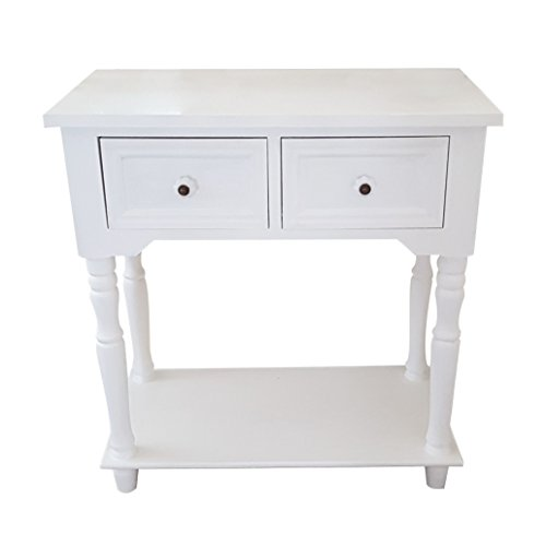 Ardoise et Rose Country Living Table Console Blanc – Hauteur 64.5 cm