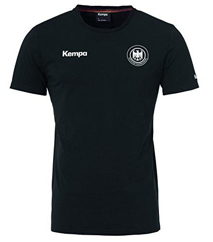 Kempa Herren Dhb Deutschland T-Shirt Kinder Fan-Trikot, schwarz, 128
