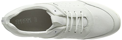 Geox D OPHIRA B, Sneakers basses femme Blanc - Weiß (WHITE/OFF WHITEC1352)