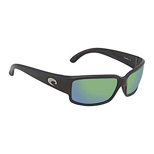 New Costa del Mar caballito CL 11Sonnenbrille Schwarz glänzend für Damen, Damen, Frame: Shiny Black / Lens: Green Mirror