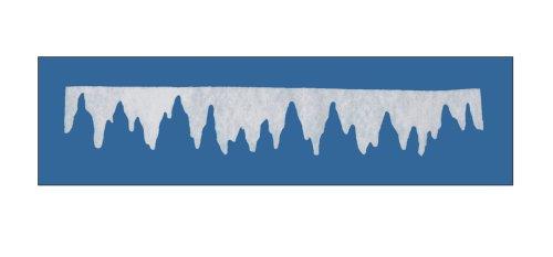 Winterdeko EISZAPFENGIRLANDE KLEIN. 2 Stück. Ca 100 x 16cm. Aus Schneewatte, 1cm dick.