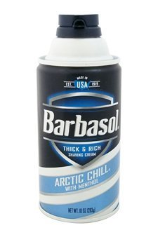 Barbasol Arctic Chill with Menthol Thick and Rich Shaving Cream for Men, 10 Ounce by PerfumeWorldWide, Inc.
