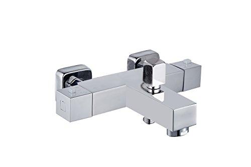 DP Grifería Talavera – Grifo termostático de bañera , color plata