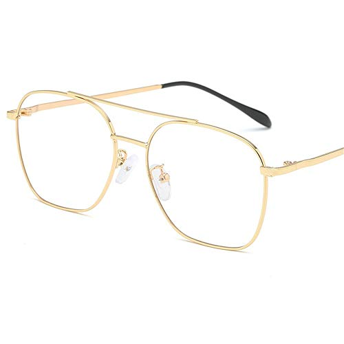 brillengestell Brillenfassungen Brillen Fashion Metal Double Beam Unisex, Goldrahmen