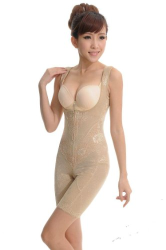 UUstar® Damen Schlank Body Shaper Mieder Bodysuit Miederbody Miederhose Nude