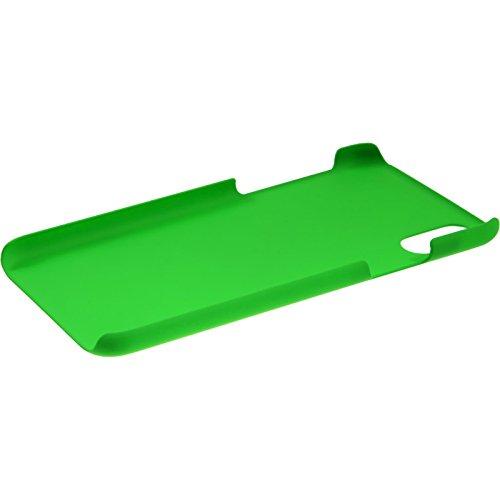 PhoneNatic Case für Apple iPhone X Hülle rot gummiert Hard-case für iPhone X Case Grün