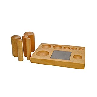 Proops Wooden Dapping Block with Steel Block & 5 x Wooden Doming Punches Set (J1500). Free UK Postage