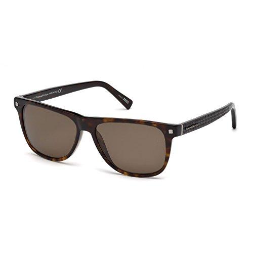 Sonnenbrille Zegna Ermenegildo (Ermenegildo Zegna EZ0074 C57 52M (dark havana / roviex polarized) Polarisierende Sonnenbrillen)