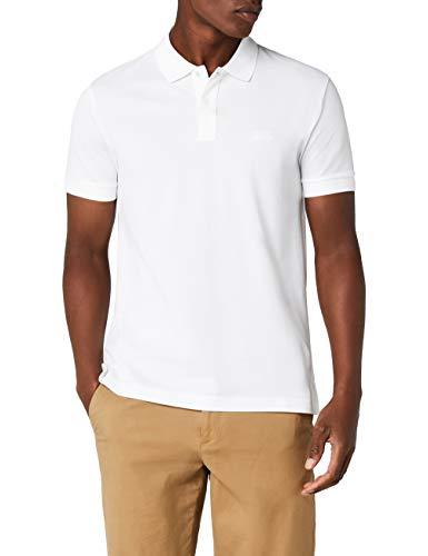 Weiße Langarm-polo-shirt (BOSS Herren Piro Poloshirt, Weiß (White 100), Medium)