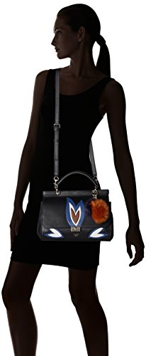 Guess Borsa Donna Jaden Top Handle Flap Nero (Black Multi) En Venta En Venta gltWdLm6