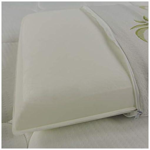 Baldiflex, Coppia di Cuscini Saponetta Memory Foam, Aloe Vera, Altezza 11 cm