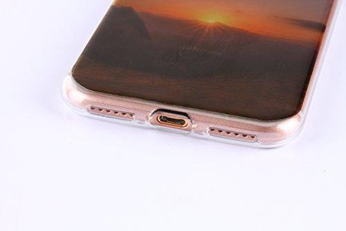 Voguecase Für Apple iPhone 7 Plus 5.5 hülle, Schutzhülle / Case / Cover / Hülle / TPU Gel Skin (Schneeberg 02) + Gratis Universal Eingabestift Sonnenuntergang/Gebirge