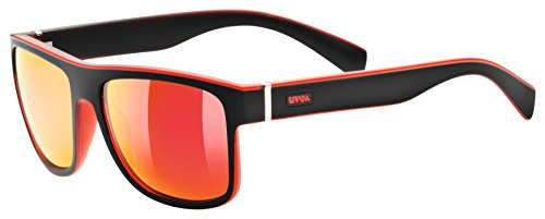 Uvex Sportsonnenbrille lgl 21 Black-red Mat, One Size