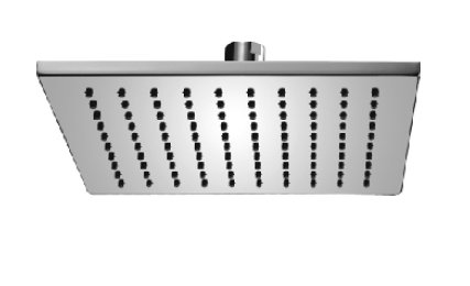 Domino Comfort Slim Line Air Pommeau de douche pluie 25 x 25 cm