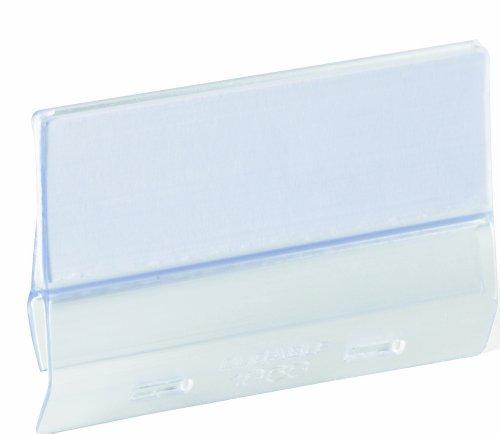 Durable 186819 Kunststoffreiter (60 mm) Packung mit 25 Stück transparent