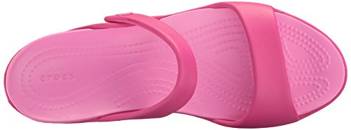 Crocs Cleovsandalw, Sandales Bout Ouvert Femme Rose (Candy Pink/Party Pink)