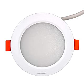 Zemismart ZLL ZigBee 3.0 LED RGBW 3 inch Ceiling Downlight 7W dim10cm Work with Amazon Alexa Echo Plus Multi Color Smart Home Automation Home Solutions Party Light