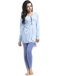 Umstandsmode, Nachwäsche Damen Pyjama / Schlafanzug -verschieden Farben-