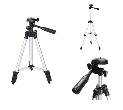 Pluvios leichtgewicht 130 cm Stativ für Digitalkameras + Tragetasche für Casio Exilim F, FH, H, N, NS, SZ, Z, ZR, ZS Series H60, TR100, ZR1000, ZR1200, ZR1500, ZR2000, ZR3500, ZR800, ZR850 Zr Video