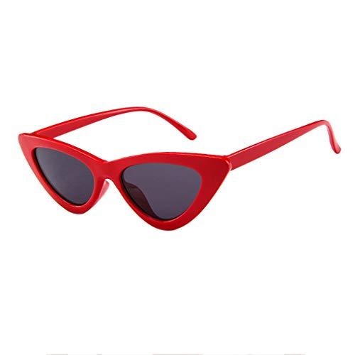 Makefortune Frauen Sonnenbrillen, Frauen-Weinlese-Katzenaugen-Sonnenbrille-Retro- kleiner Rahmen UV400 Eyewear arbeiten Damen-Gläser um