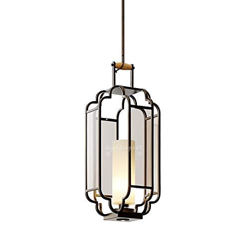 Kronleuchter Deckenlampe modern, Durchmesser 26cm 5W Klassische Porch Restaurant Glas Schmiedeeisen Laterne Kronleuchter (weißes Licht), Hängeleuchte Deckenleuchte (Farbe : Warm White) -
