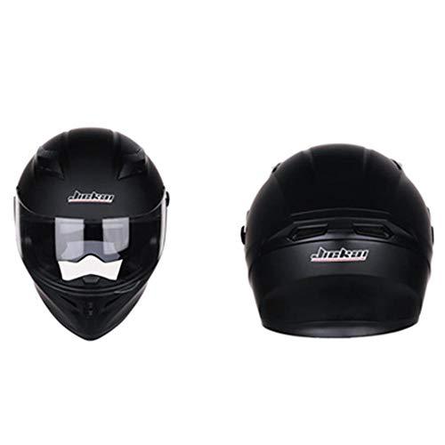 guowei0074 Casco de la Motocicleta del Visera Dual Despliegue Modular Casco Integral de la Motocicleta Que compite con Cascos para Hombres y Mujeres Well-Designed Practical Kindly