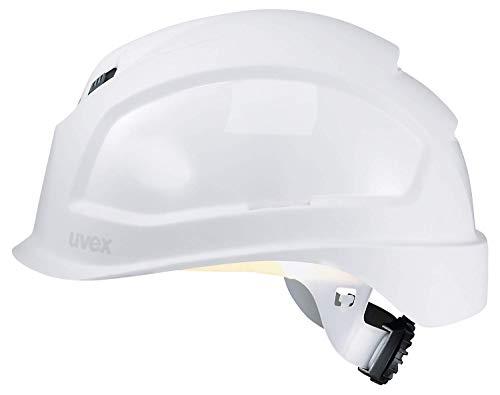 Uvex Pheos B-S-WR Belüfteter Bauhelm mit Drehrad - Kurzer Schirm - Weiß