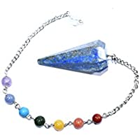 Dowser - Lapis Lazuli With Seven Chakra Chain Gemstone Pendulum Chakra Balancing & Reiki Healing Dowser Crystal... preisvergleich bei billige-tabletten.eu