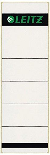 Preisvergleich Produktbild Leitz 16421085 Rückenschild selbstklebend, Papier, kurz, breit, 100 Stück, grau