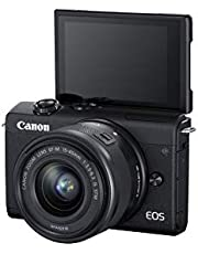 Canon EOS M200 Mirrorless Camera, EF-M 15-45mm f/3.5-6.3 is STM Lens, 24.1 MP, 16 GB Memory Card