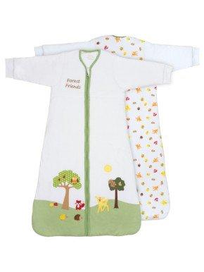 Sacco nanna invernale slumbersac neonato con maniche lunghe circa 3.5 tog - amici della foresta - 0-6 mesi/70cm