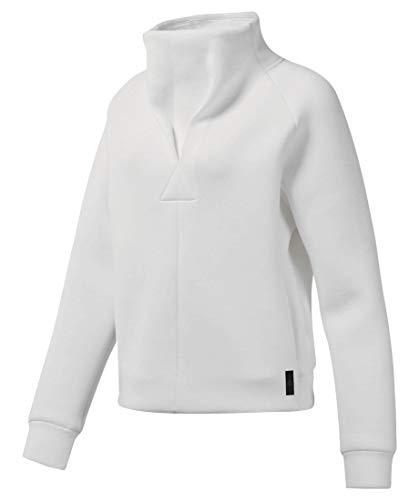 Reebok Damen Sweatshirt TS Cowl Neck Langarm Weiss (100) XL -