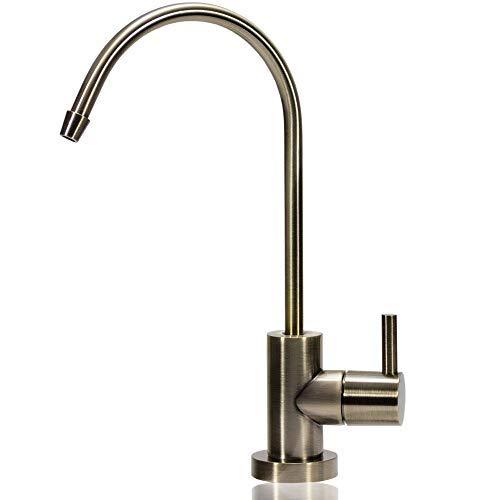 Heavy-duty Spule (NU Aqua Heavy Duty Umkehrosmose-Trinkwasserhahn - Küche Bar Spüle Auslauf mit 1/4 Zoll Anschluss Designer messing antik-optik)