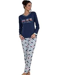 MASSANA Pijama de Mujer Combinado P681210 - Azul Oscuro, S