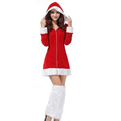 Homebaby Costume da Babbo Natale Donna Festa di Natale Fantasia a Due Pezzi  Abito Cosplay Vestito 880f35692f2